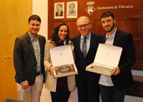 Vila-seca homenatja a Helena Casas i Ferran López